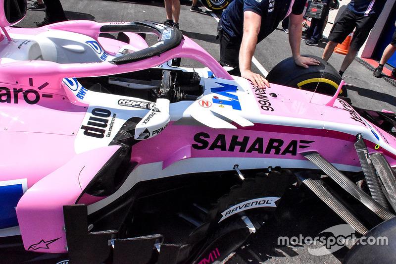 Область дефлекторов Force India VJM11