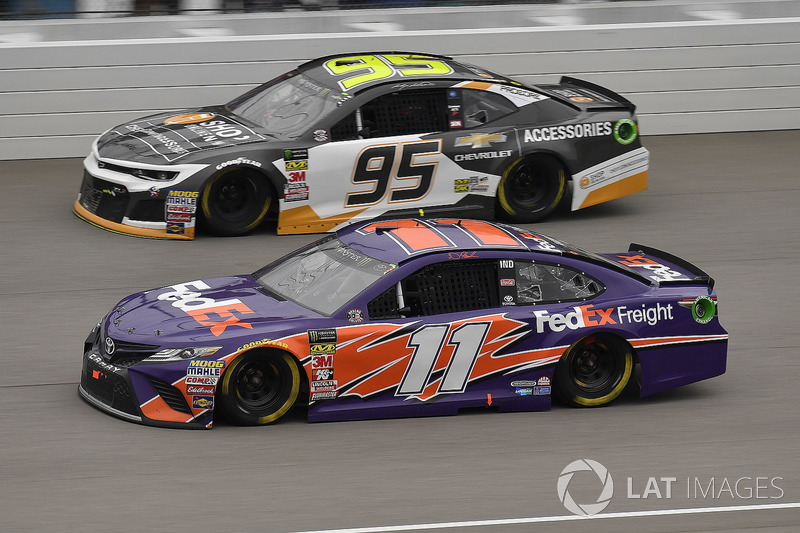 Denny Hamlin, Joe Gibbs Racing, Toyota Camry FedEx Freight e Kasey Kahne, Leavine Family Racing