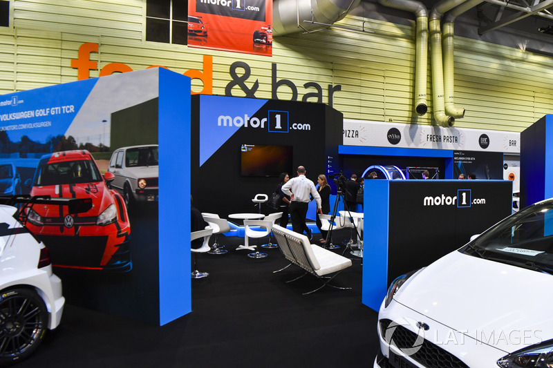 The Motor1 stand