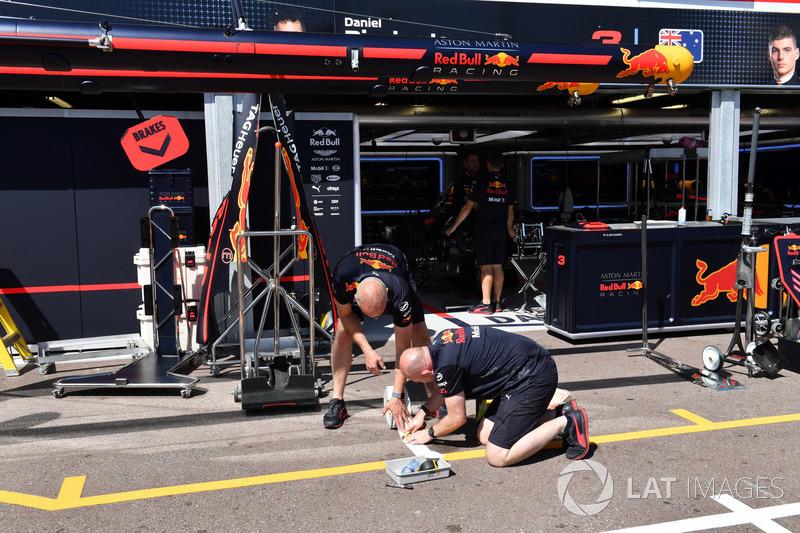 Mécaniciens Red Bull Racing