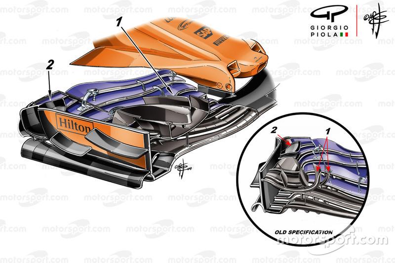 McLaren MCL33, első szárny, Monaco