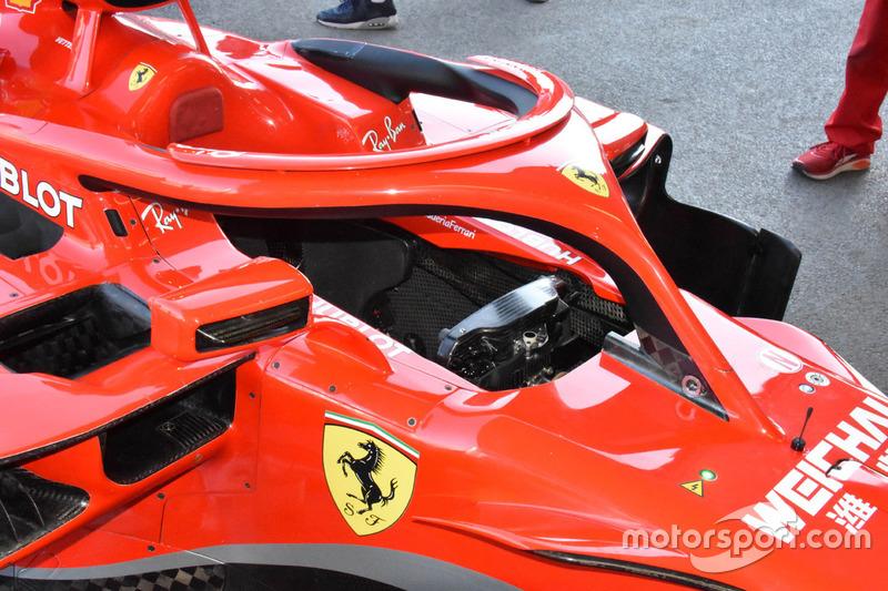 Ferrari SF71H kokpit detayı