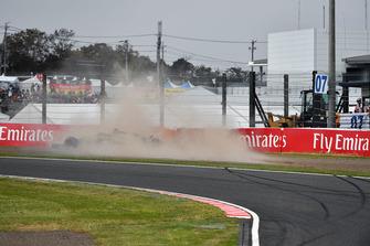 Accidente de Nico Hulkenberg, Renault Sport F1 Team R.S. 18