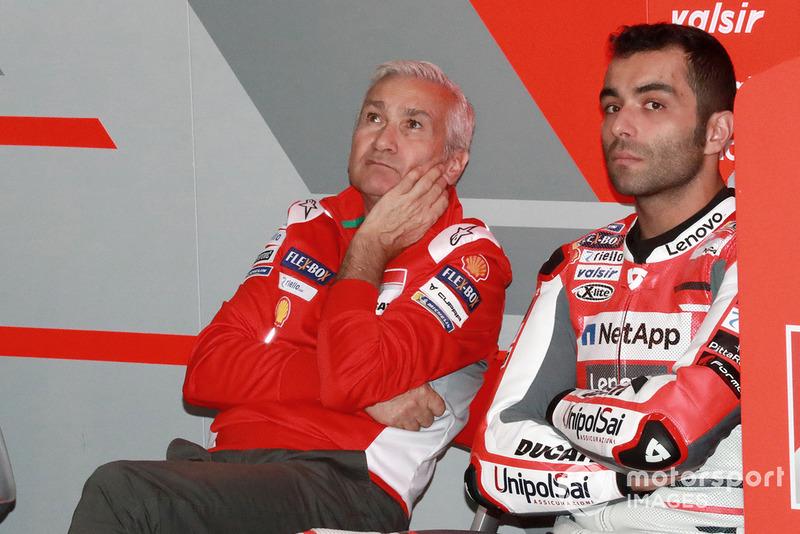 Давіде Тардоцці, керівник команди , Даніло Петруччі, Ducati Team