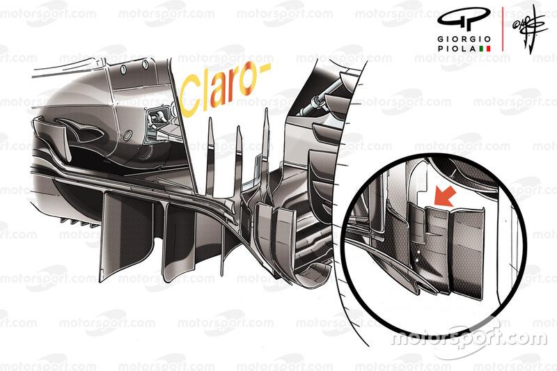 Detalle del difusor del Sauber C37