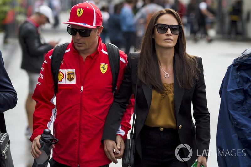 Kimi Raikkonen, Ferrari with his wife Minttu Virtanen,