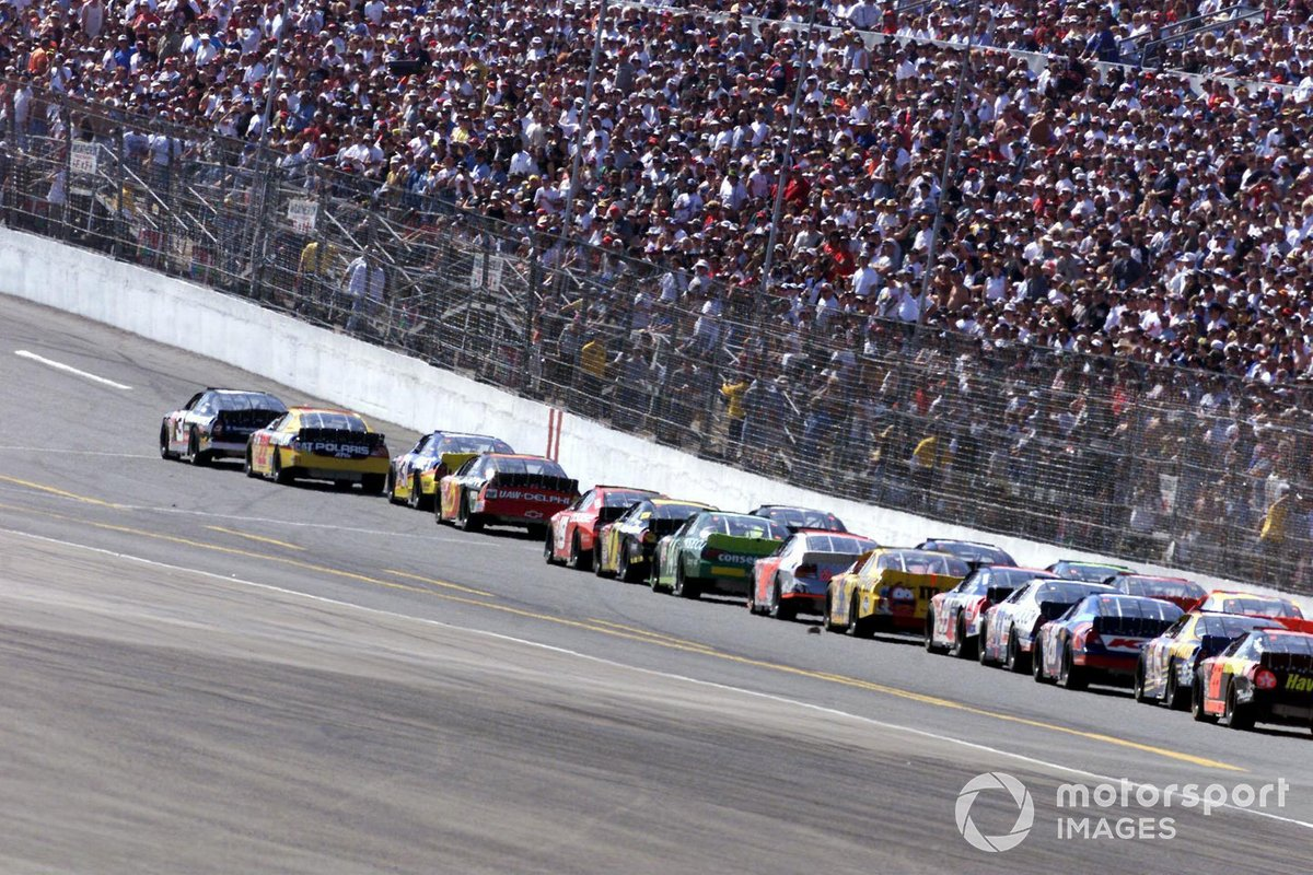 Dale Earnhardt leads the field