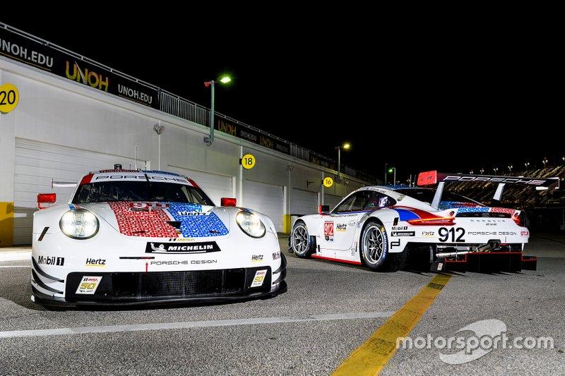 #911 Porsche GT Team: Patrick Pilet, Nick Tandy, Frederic Makowiecki, #912 Porsche GT Team: Earl Bamber, Laurens Vanthoor, Mathieu Jaminet
