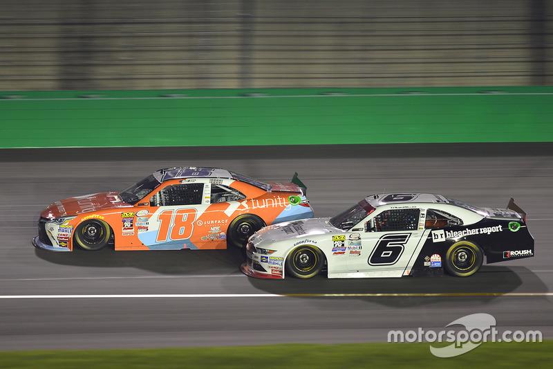 Matt Tifft, Joe Gibbs Racing, Toyota; Darrell Wallace Jr., Roush Fenway Racing, Ford