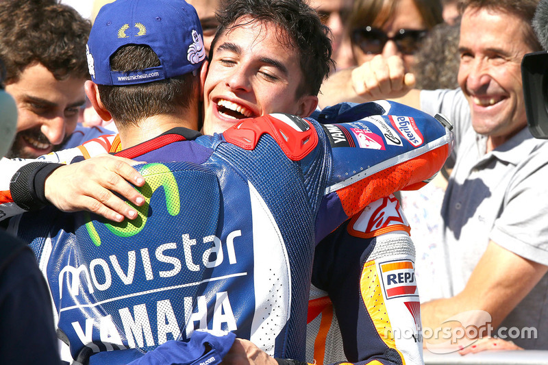 Sieger Marc Marquez, Repsol Honda Team; 2. Jorge Lorenzo, Yamaha Factory Racing