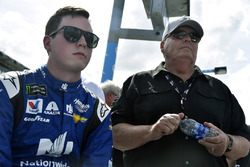 Alex Bowman, Hendrick Motorsports Chevrolet Camaro and Rick Hendrick