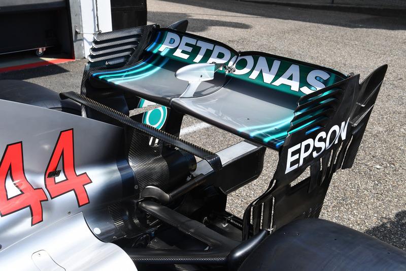 Alerón trasero del Mercedes-AMG F1 W09