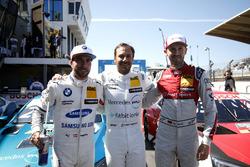 Top 3 after qualifying, Pole position forGary Paffett, Mercedes-AMG Team HWA, Philipp Eng, BMW Team RBM, René Rast, Audi Sport Team Rosberg