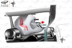 Mercedes AMG F1 W09 mirror back view