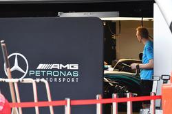Mercedes AMG F1 garage screens