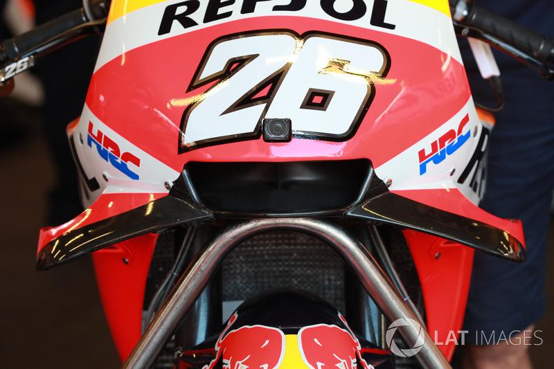 Detail fairing motor Dani Pedrosa, Repsol Honda Team