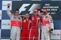 Podium: 1. Kimi Raikkonen, Ferrari; 2. Fernando Alonso, McLaren; 3. Lewis Hamilton, McLaren