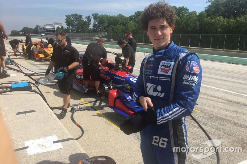Matheus terminou a temporada da Indy Lights em quarto lugar. Mas as conversas para chegar à Indy já estavam em andamento.