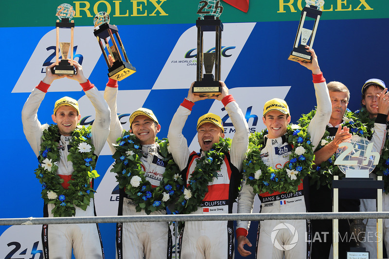 7. Podium: Ho-Pin Tung, Oliver Jarvis, Thomas Laurent, DC Racing