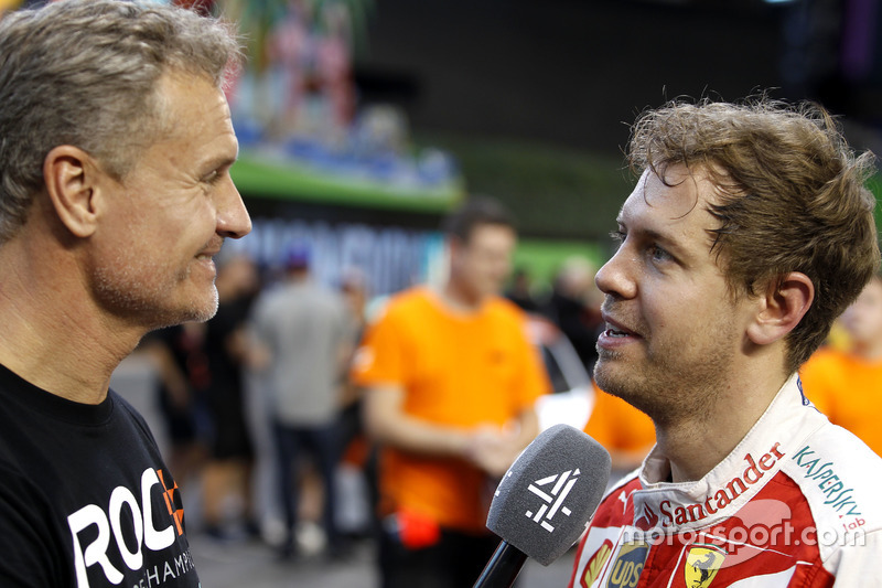 David Coulthard y Sebastian Vettel