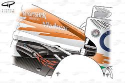 Force India VJM05 semi-coanda exhaust