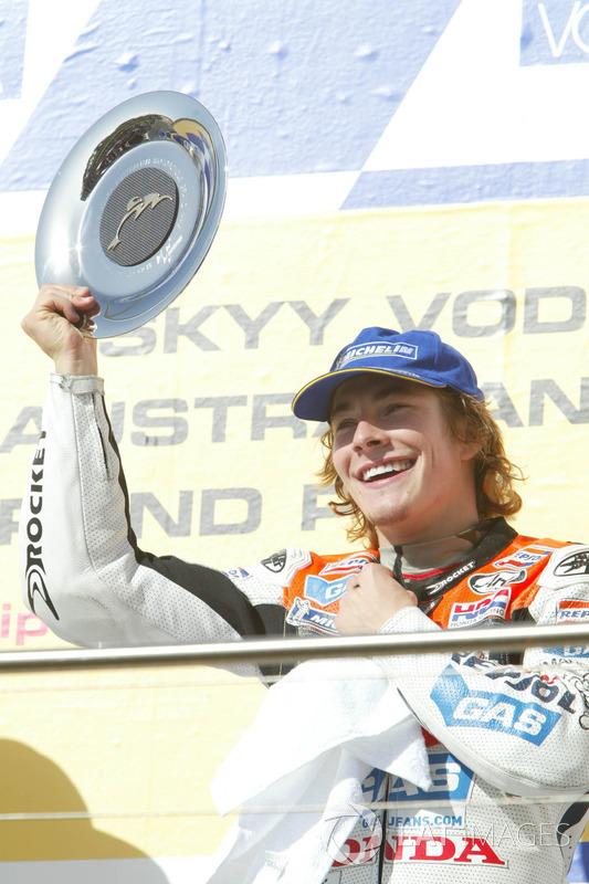 Podio: il terzo classificato Nicky Hayden, Repsol Honda Team