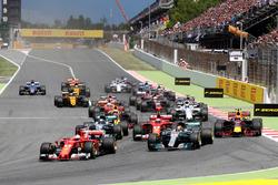Start: Sebastian Vettel, Ferrari SF70H, führt