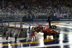 Les voitures de Max Verstappen, Red Bull Racing RB13 et Kimi Raikkonen, Ferrari SF70H