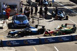Sébastien Buemi, Renault e.Dams, ve Daniel Abt, ABT Schaeffler Audi Sport,