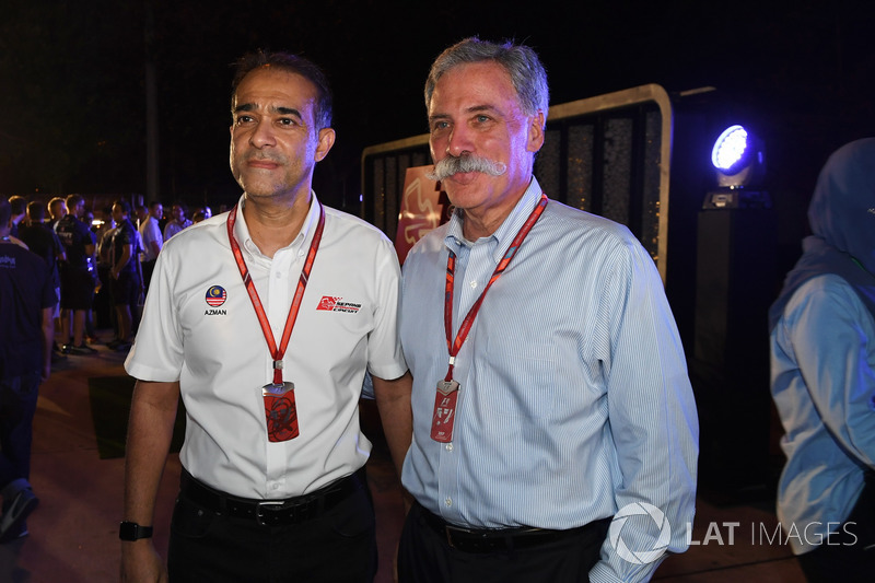 Tan Sri Azman, Chairman of Sepang International Circuit and Chase Carey, Chief Executive Officer and Executive Chairman of the Formula One Group at Petronas BBQ