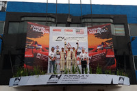 Danial Frost, Presley Martono, Isyraf Danish, podium, Sentul International Circuit