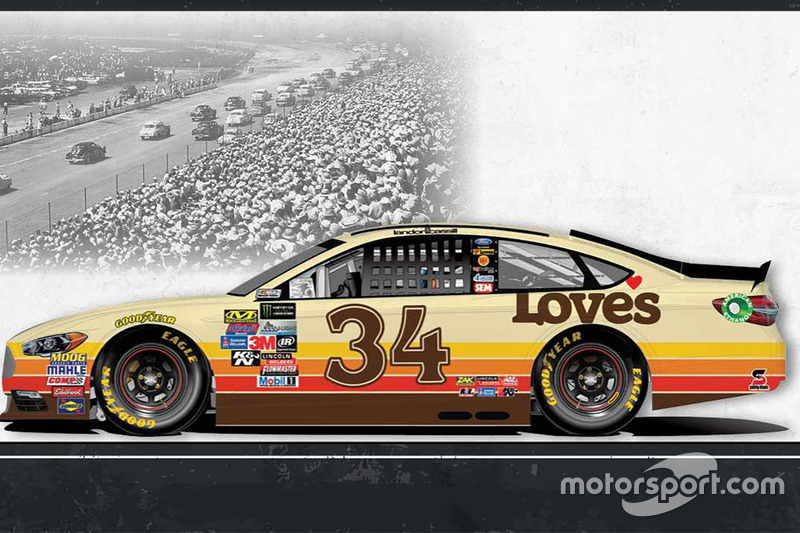 Throwback-Design: Landon Cassill, Front Row Motorsports Ford