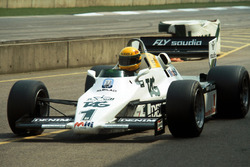 Ayrton Senna, tests the Williams FW08C for the first time