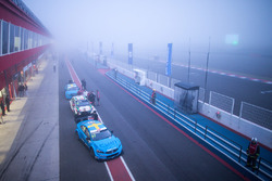 Nicky Catsburg, Polestar Cyan Racing, Volvo S60 Polestar in the fog