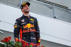 Daniel Ricciardo, Red Bull Racing celebrates on the podium