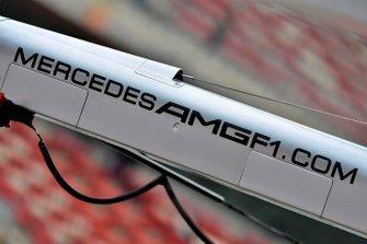 Mercedes AMG pit gantry detail
