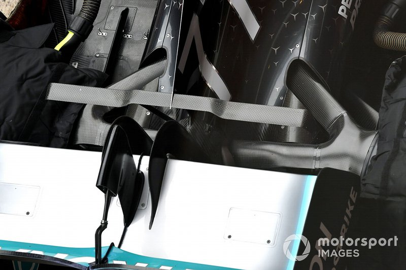 Mercedes AMG F1 W10 rear detail
