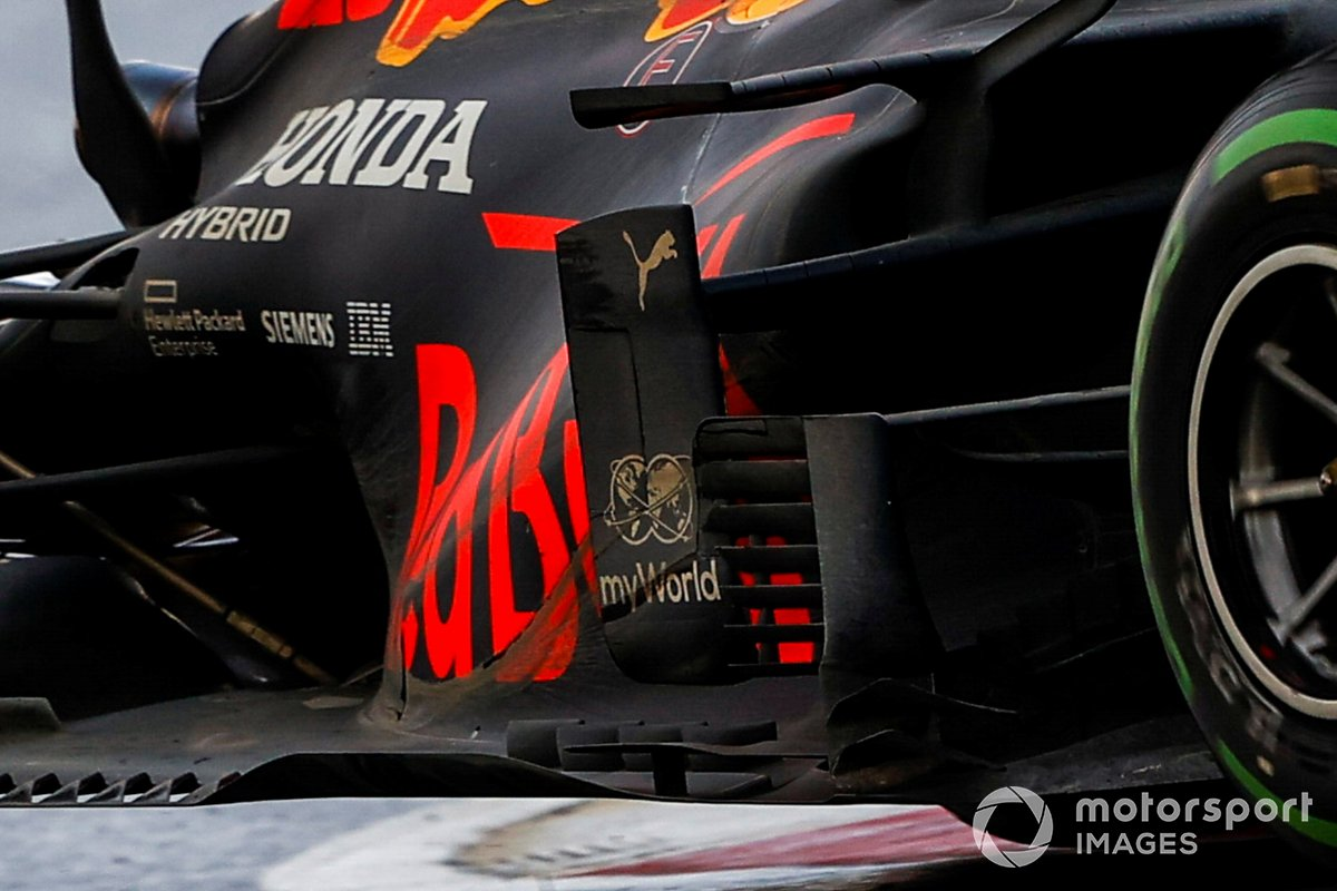 Red Bull Racing RB16 sidepods detail