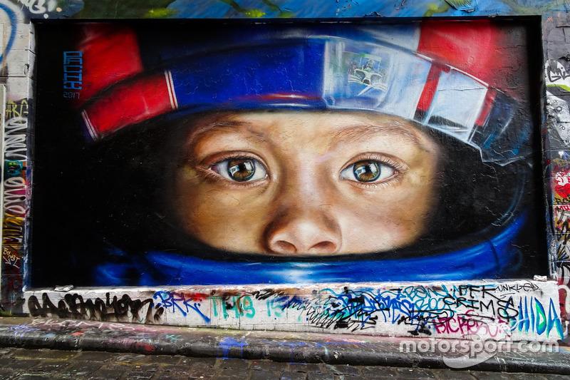F1-Straßenkunst in Melbourne