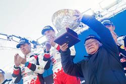 Koei Saga and race winners Jari-Matti Latvala, Miikka Anttila, Toyota Yaris WRC, Toyota Racing