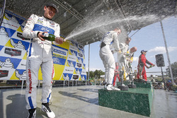 GTLM podium: race winners Antonio Garcia, Jan Magnussen, Corvette Racing, second place Ryan Briscoe, Richard Westbrook, Ford Performance Chip Ganassi Racing, third place Giancarlo Fisichella, Toni Vilander, Risi Competizione