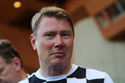 Mika Hakkinen at World Stars Football Match