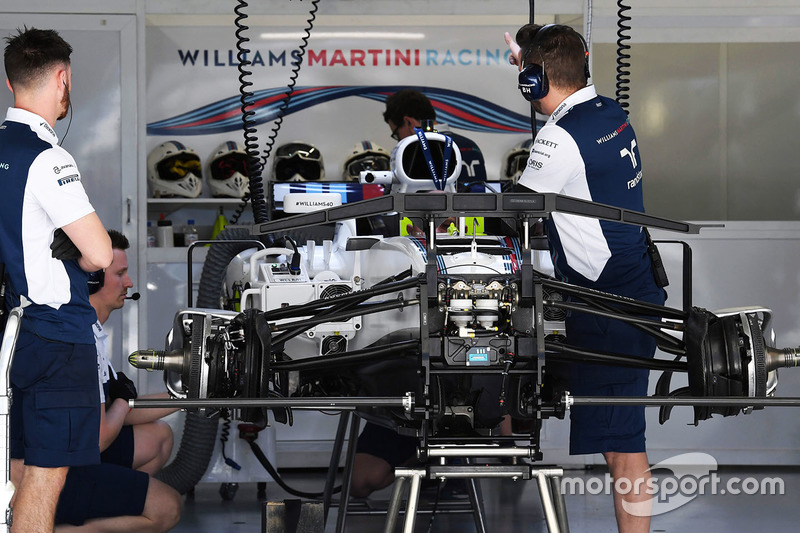 Шасі і передні гальма Williams FW40