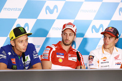 Valentino Rossi, Yamaha Factory Racing, Andrea Dovizioso, Ducati Team, Marc Marquez, Repsol Honda Team