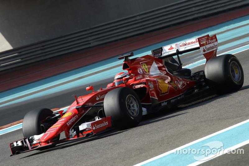 Kimi Raikkonen, Ferrari probando las Pirelli 2017