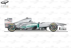 Mercedes W02 side view, Spanish GP