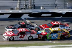 Kyle Larson, Chip Ganassi Racing Chevrolet Kevin Harvick, Stewart-Haas Racing Ford Kyle Busch, Joe Gibbs Racing Toyota Ryan Blaney, Wood Brothers Racing Ford