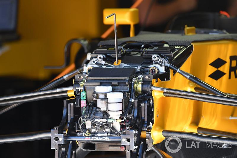 Suspensión delantera y chasis del Renault RS17