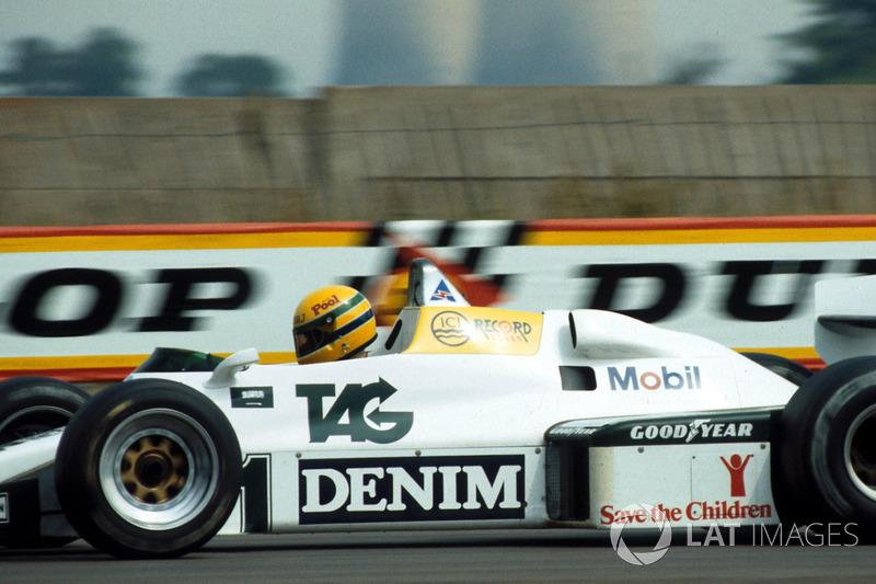 Ayrton Senna, ilk kez Williams FW08C'yi test ediyor