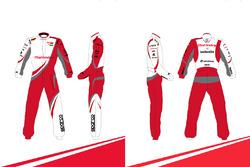 Designvorschlag für den Overall von Nick Heidfeld: Rajshekhar Dass